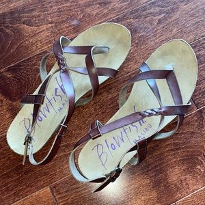 Blowfish Leather Strappy Sandals